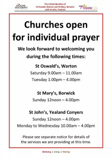 Churches open